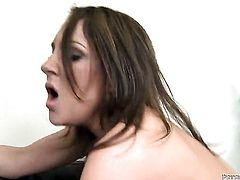 Kiera King gets her mouth destroyed by guys cock