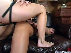 Two smoking hot office babes get in their boss's office and lock from the inside. They get naked on the way of their lesbian sex. Both of them are so sassy!