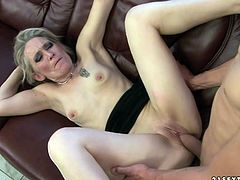 Horny MILF riding a large cock of her neighbour with his large cock which she just loved to suck and stick it in her pussy.Watch her ride that cock in 21 Sextury sex clips.
