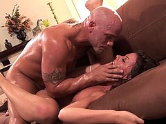 Having such horny hunk to smash her tight pussy turns young babe really wild