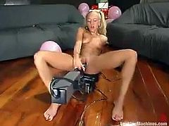 That device was constructed specially for Kylie Wilde. Babe tests it and her assessment on this fucking machine will be the way she stuns on it!