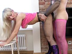Anita Hengher goes naughty during intense hardcore pantyhose fetish porn show