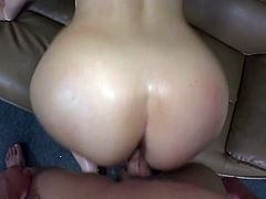 She is a milf, a very irresistible one! Honey gets naked and that huge cock is going to make her day! Babe blows it and then anal passion takes its start!