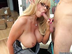 Danny Wylde plays with soaking wet pussy of Karen Fisher before he bangs her hard