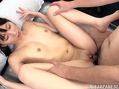 Slim Japanese girl Yuuki Itano wearing pantyhose soaps her ass and rubs it against some guy's dick. Then they fuck in the reverse cowgirl position and doggy style and seem to be unable to stop.