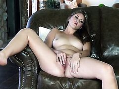 Shae Snow is horny as hell and fucks her muff with her fingers for you to enjoy