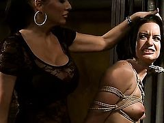 Mandy Bright with massive jugs gets her wet spot tongues by Barbie Pink