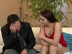 Bubble butt cutie Mischa Brooks gives her lover one hell of a blowjob