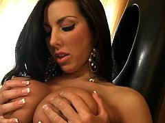 Alluring Brianna Jordan amazes with ehr big boobs and naughty pussy masturbation show