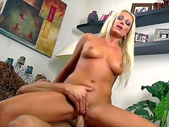 Slender glamorous blonde Diana Doll with natural perky boobs and dark heavy make up makes out with handsome lover Bill Bailey and gets pounded good in doggy style position.