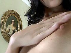 SONIA RED MASTURBATES WITH A DILDO TO ORGASM THEN STICKS A FINGER IN HER ASS