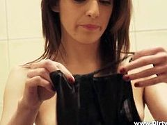A courtesan is a high class whore, beautiful, young and with a high price, our courtesan brings her customer inside the house and then goes to the bathroom to prepare herself. She's one hell of a beauty and that black dress and stockings she just putted on makes her even hotter! Watch her at work!