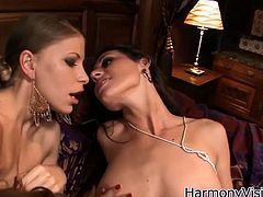 These kinky bitches use various sex toys to bring one another divine sexual pleasure. Watch them going kinky and naughty in arousing lesbian 3some sex video.