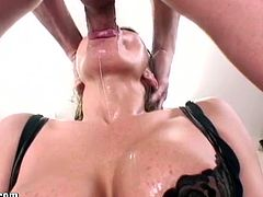Watch all these hot babes and sexy porn-star get their sweet mouth and throat fucked hard and deep here only at Throated.You will love these babe sucking on those fat bog cocks and getting their pretty face fucked!