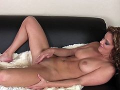 Sensual Bella Rossi feels like playing naughty with her warm and puffy twat