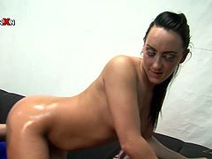 Slutty bitch with beautiful round ass is standing on her all four. She gets her butt cheeks rubbed with oil. Later on her pussy hole is fisted bad. Check out this kinky Filthy and Fisting XXX porn scene.