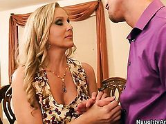 Julia Ann with juicy jugs is on the edge of nirvana with Bill Baileys hard sausage in her fuck hole