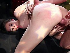 Raven Alexis is a hot chick that loves hard sex. She gets her pink wet pussy fucked with no mercy by her horny hard cocked fuck buddy in doggy position. She takes face cusmhot after hard pussy pounding.