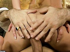 Blonde Chary Kiss makes her dirty dreams a reality with dudes rod deep down her throat