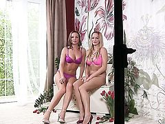 Silvia Saint and Stacy Silver are two dykes that cant keep their hands off each other