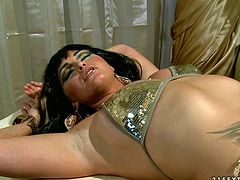 Watch these two slutty lesbian bitches rubbing and eating their wet anf tight pussies of theirs in the bedroom in 21 Sextury sex clips.