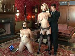 Bella Rossi and Cherry Torn get tormented and fucked by a horny dude
