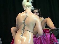 If you are a true fan of lesbian porn then this amazing sex video is worth checking out. Dity-minded blondie fists her girlfriend's pussy with great enthusiasm.