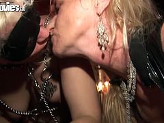 These two nymphos are two of the horniest chicks you'll ever see! Cruel bitches want to get really wild with this dude's cock. The suck his meat stick with unrestrained passion like there's no tomorrow.
