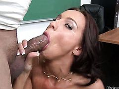 Carina Roman cant wait to be fucked in her mouth by hard cocked guy