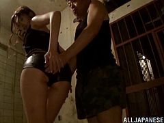 Beautiful Japanese girl Asami Ogawa favours some dude with a blowjob and a footjob. Then they fuck in cowgirl position and doggy style and Asami moans sweetly with pleasure.