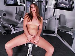 Watch this hottie suck that large black cock in the gym all naked with her big and nice titties in Mofos Network sex clips.