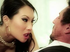 Gorgeous porn model Asa Akira is working her tempting mouth lips on a juicy cock. She then facesits her lover in 69 position. Arousing porn clip presented by Wicked studio.