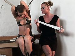 Blonde fulfills her sexual needs and desires with Kathia Nobili in girl-on-girl action