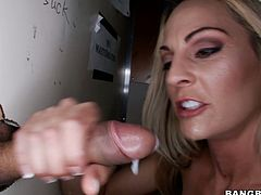 From the way shes sucking on that dick you can tell that she's a real pro. Just look how sexy and horny this blondie is. Press play and I'm kinda sure you'll apppreciate her cock sucking skills.