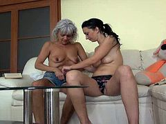 These dirty-minded lesbians act really naughty in this hot sex video. They make each other cum pretty quickly caressing each other's pussies orally.