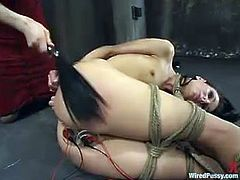 There's double toying for this girl int his BDSM lesbian video and the dominant vixen is also using a vibrator to stimulate her pussy. And she's immobilized!