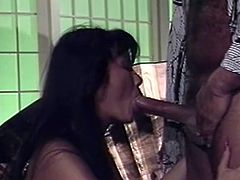 Sizzling Asian bitch Mai Lynn is getting naughty with some masked dude. They make out and pet each other passionately and then mai admires the man with her cock-sucking talent.