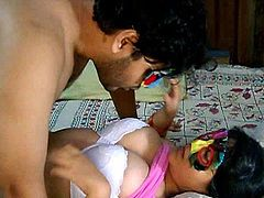 Pretty Indian homemade loves banging with her friend