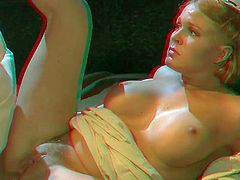 Big meloned blonde Krissy Lynn gets her anal hole banged with legs apart in Dracula porn parody in 3D. She shows off her perfect hooters and gets her anal hole fucked really deep by horny man.