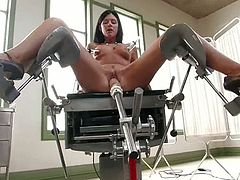 A sexy brunette MILF is fucked by machines in this video and she's no other than the stunning Inda Summer!