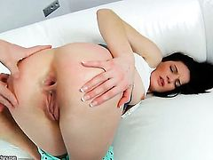 Milla Yul and horny dude have a lot of fun in this oral action
