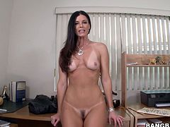 This shapely harlot is the compete package! She has well-shaped legs and a nice set of small perky tits. In this hot masturbatiob video she fucks her wet twat with her favorite dildo. Make sure you don't miss her hot masturbation session!
