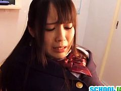 Watch this sexy Japanese school girl Ruka Kanae getting her sweet wet hairy pussy licked in the classroom.Her boyfriend licks her hard and fucks her from behind.