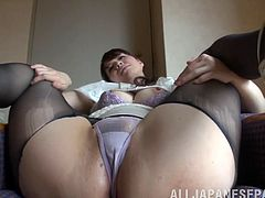 She is a dirty minded Japanese milf Yuna Aino is! She is loving that dude and he is eating her twat! Then, he fucks her hot and hairy pussy so hard.