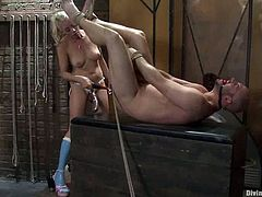 Petite blond mistress Lorelei Lee is loving her slave