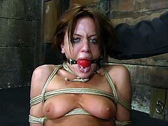 These are the things that Holly Wellin is living through! Oh, man she is so fucked up in this BDSM action. Though, babe loves it pretty hard!