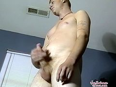 Check out this horny older dude and his and his buddy having fun together at home. One is jerking off his big stiff cock and got it sucked ballsdeep by his buddy.