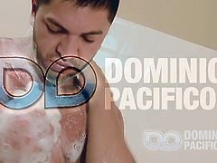 Mucled gay stud Dominic Pacifico is ready to show you his massive cock in the shower. He makes it hard and starts fucking his favorite sex toy so he can cum for you.