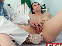 Old Pussy Exam brings you an exciting free porn video where you can see how a nasty brunette mature gets her hairy pink cunt properly examined by a kinky doctor.