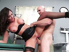 Johnny Sins explores the depth of eye-popping Destiny Dixons wet fuck hole with his meat stick